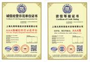 AAA级资质等级证书